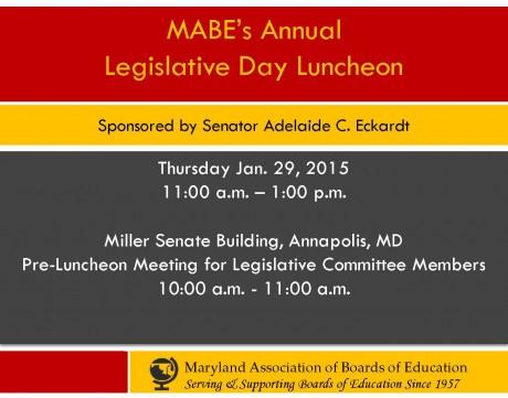 Annual Legislative Luncheon, Jan. 29