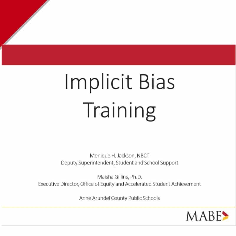 Workshop: Implicit Bias Presentation