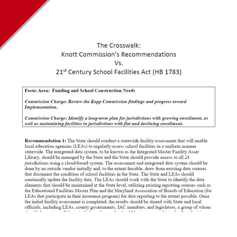Workshop: 21st Century Schools (Knott Commission)