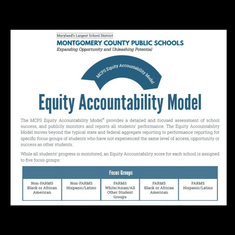 Equity and Excellence: Equity Accountability Model