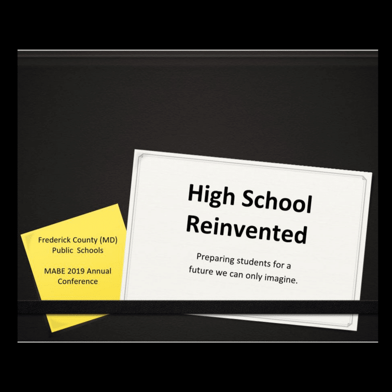 Reinventing High School
